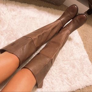 Chinese Laundry Knee High Leather Boots Sz 7